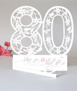 Image Is Loading Large Personalised 3D PaperCut 80th Birthday Card For