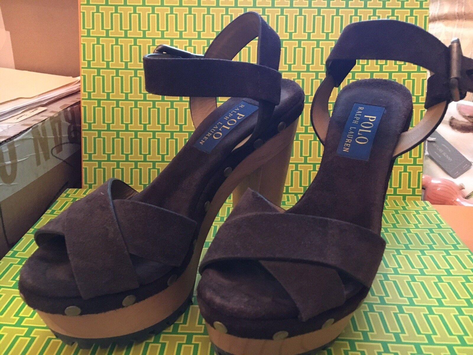 autentico online POLO Ralph Lauren LACEY Suede Sandals Donna Donna Donna (35.5)  CHOCOLATE Marrone-STUDS  con il prezzo economico per ottenere la migliore marca
