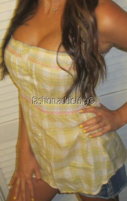 SEXY PREPPY PLAiD COUNTRY BOHO PINK BABYDOLL FLOATY TUNIC HENLEY LONG MINI TOP