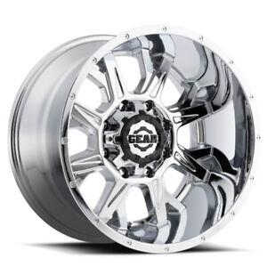 -44mm 20x12 Gear Off Road 726C Big Block Chrome Wheels 6x135//6x5.5 Set of 4