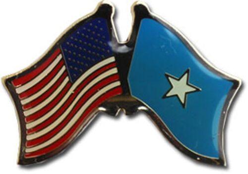 Wholesale Pack of 3 USA American Somalia Friendship Flag Bike Hat Cap lapel Pin