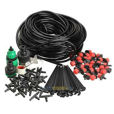 25m DIY Micro Drip Drippers Irrigation System Plant Self Watering Garden Hose #L