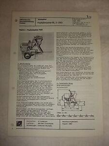 Original Rda Publicité Prospectus Feuille De Données Freifall Mixeur Bl 2-250 Roumanie 1982-r Bl 2-250 Rumänien 1982 Fr-fr Afficher Le Titre D'origine