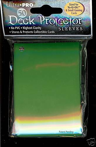 750 SERPENT GREEN  YUGIOH DECK PROTECTOR SLEEVES