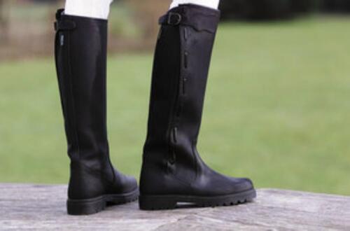Lederstiefel Stiefel Reitstiefel aus geöltem Rindsspaltleder Reißverschluss NEU