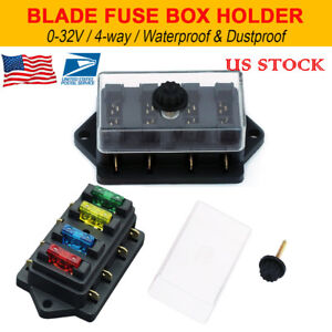 details about 12v 24v 4 way heavy duty fuse holder kit box car circuit blade fuse box block Fuse Box Connector