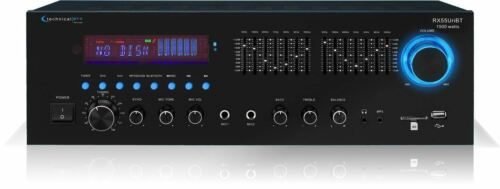 USB//SD Technical Pro RX55URIBT 1500W Pro Audio Receiver w// Bluteooth 7-Band EQ