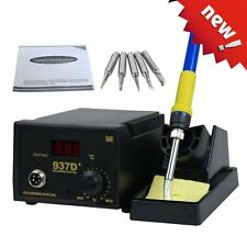937D+ SMD Soldering Hot Iron Station Digital Adjustable w/ 5 Tips Japan Heater @