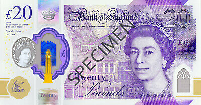 Pack of 500 Approx /£20 New Polymer Notes Bands