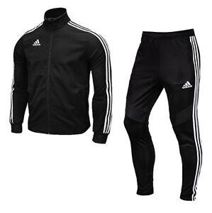 Details zu Adidas Men TIRO 19 Climalite Training Suit Set Black Soccer Jacket Pant DJ2594