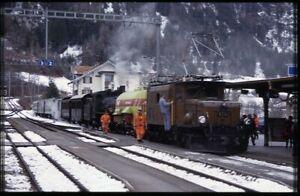 35mm slide RhB Rhätische Bahn Ge 6/6 I 415 Filisur Switzerland 2002 original