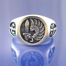 French Foreign Legion-Soldier Of Fortune-Mercenary Ring - Solid Sterling Silver