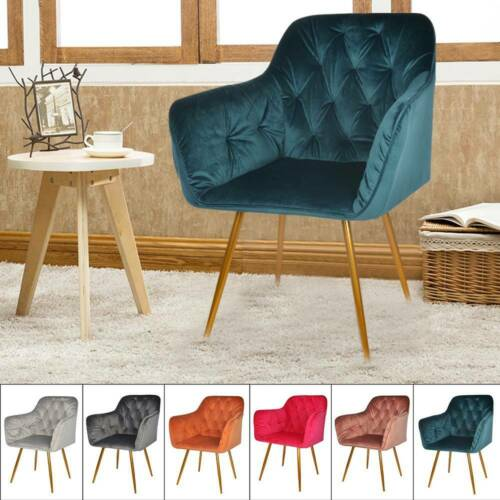 Dining Chairs Six Colours Restaurant velvet chairs Brass Legs Kitchen Chair