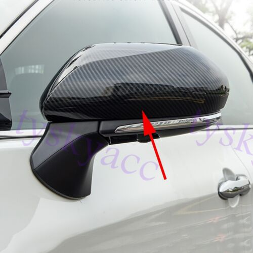 Carbon Fiber Rearview Mirror Cover Cap Trim Accessories For Toyota Camry 2018-20