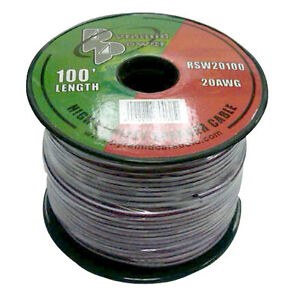 100-039-ft-Roll-20Ga-Purple-Car-amp-Home-Audio-Stereo-Speaker-Wire-Cable-20-Gauge-AWG