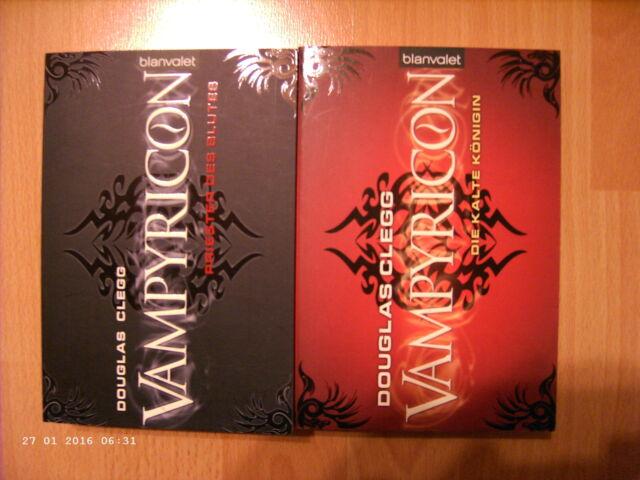 2x Douglas Clegg: Vampyricon - Band 1+2 / Die kalte Königin+ Priester des Blutes