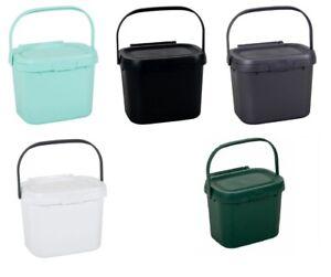 2.5 Litre Food Waste Plastic Caddy Worktop Kitchen Vegetable Holder Compost New