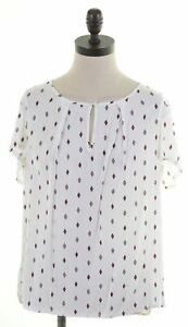 ESPRIT-Womens-Top-Blouse-UK-14-Large-White-Viscose-AO20