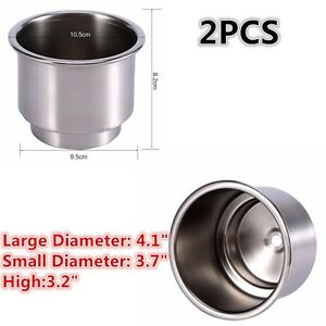 Boat Parts & Accessories Qualified 2 Piece Lamp Marine Boat Car For Camper Stainless Steel Cup Shape Drink Holder