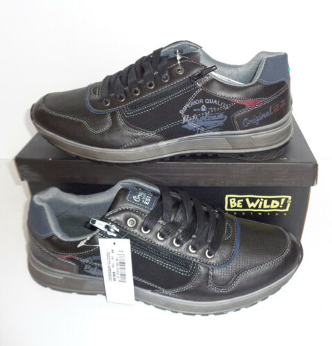 New Mens Black Trainers Shoes Casual Walking Hiking RRP €50 LARGER UK Sizes 6-16