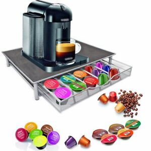 Image Is Loading Coffee Machine Stand Amp Capsule Pod Storage Holder