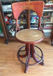 Terrific Details About Vintage Antique Industrial Steampunk Swivel Bentwood Drafting Stool Western Ny Caraccident5 Cool Chair Designs And Ideas Caraccident5Info