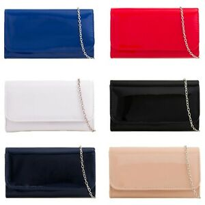 Women-Patent-Clutch-Bag-Ladies-Evening-Party-Fashion-Shoulder-Bags-New