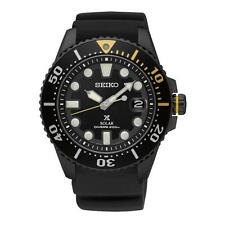 SEIKO MEN'S PROSPEX 44MM BLACK SILICONE BAND STEEL CASE SOLAR WATCH SNE441