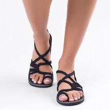 7bcfd70bbb1b Bohemian Flat Flip Flops Sandals Summer Womens Bandages Casual Beach Shoes