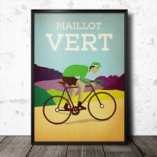 Jersey verde maillot vert PÓSTER de Tour de France Ciclismo de estilo vintage y retro
