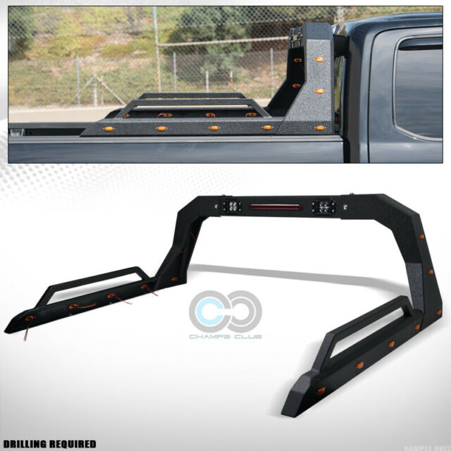 Textured Black Adjusable Truck Chase Rack Brake Light+LED
