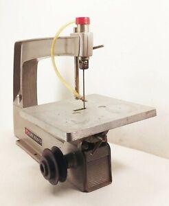 Vtg-Power-craft-belt-pulley-drive-aluminum-scroll-jig-saw-tool