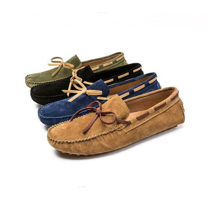 Summer Mens Real Leather Lace Loafers SWIM Mesh Driving Breathable Vogue shoes