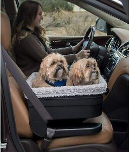 Pet Gear Multi 2 Dog Pet Elevated Raised Booster Car Seat Carrier Black Fog LRGE