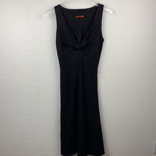 Hanna Hartnell Dress S Womens Black Linen Sleevele