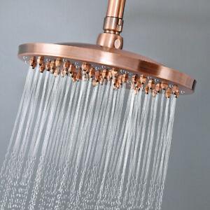 "8/"" inch Antique Red Copper Round Rainfall Rain Bathroom Shower Head Gsh261"