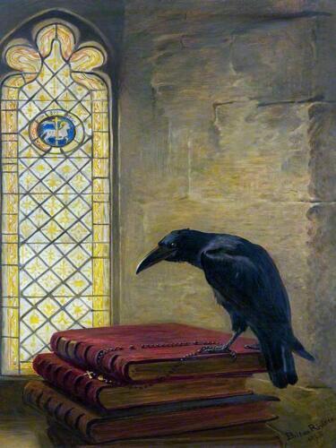 bird black Raven by B. Riviere Tile Mural Kitchen Bathroom Backsplash Ceramic