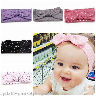 Haarband Baby BAUMWOLLE Mädchen elastisch Schleife  Stirnband Baby Haarschmuck