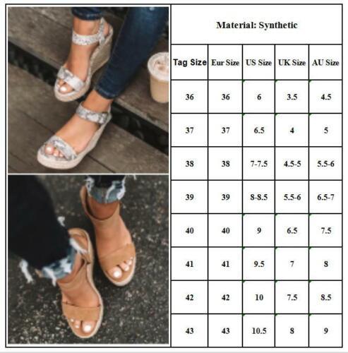 Damen Keilabsatz Wedges Plateau Sandalen Hoch Wedges Schuhe Sommer Sandaletten
