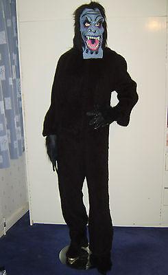 Aggressivo Da Uomo Gorilla Scimmia Bestia Overhead Costume Maschera M/l Utilizzati-mostra Il Titolo Originale Nuove Varietà Sono Introdotte Una Dopo L'Altra