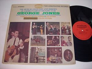 The-George-Jones-Story-1968-Double-Stereo-LP-VG