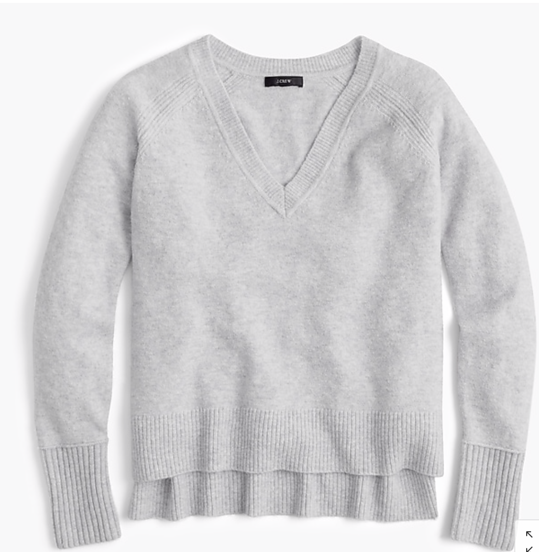 Jcrew V-Neck pull en fils