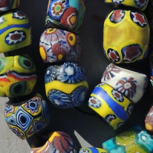 variety-of-20-special-old-antique-venetian-millefiori-african-trade-beads-4777