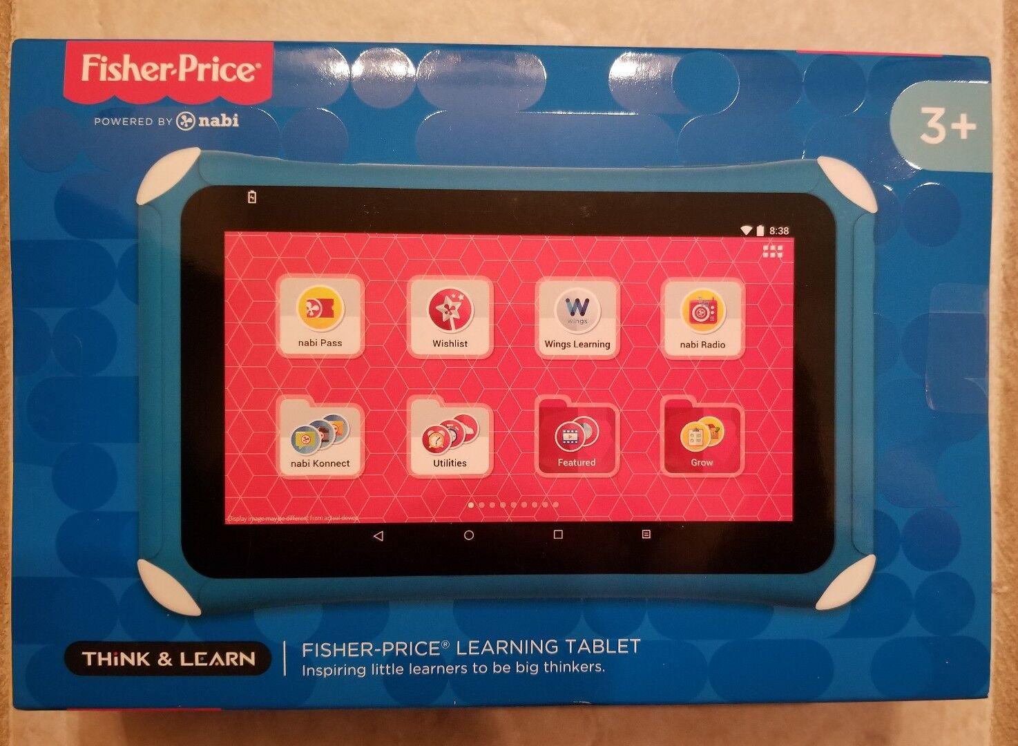 Nuevo En Caja Fisher-price Nabi 7 Pulgadas Niños Tableta De Aprendizaje-Azul-sellado 7