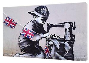 Alerte Child Labour Artwork Par Banksy Réimpression Sur Encadrée Toile Mural Art Maison Décoration-afficher Le Titre D'origine