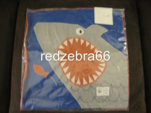 ONE Pottery Barn Kids Shark Jaw Decorative Pillow Cover//Sham