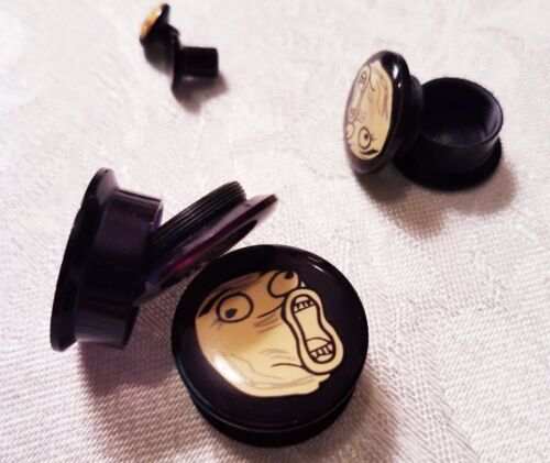"Ear Plugs /""LOL/"" Meme Gauges Acrylic - Screw"