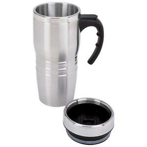 16 Ounce Stainless Steel Insulated Travel Coffee, Tea Tumbler, Mug, Thermos