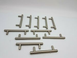 11Pc-Lot-Cabinet-Door-Dresser-Drawer-Handle-Pull-Furniture-Hardware-Nickel-Used