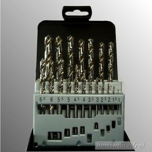 Satz HSS-G DIN 338 Bohrer 19 tlg   1-10 mm x 0,5 mm Metallbohrer Eisen